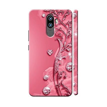 newest 6fda4 a2a74 Clapcart Lenovo K8 Note Designer Printed Back Cover for Lenovo K8 Note -  Pink Color (Heart Design For Girls)