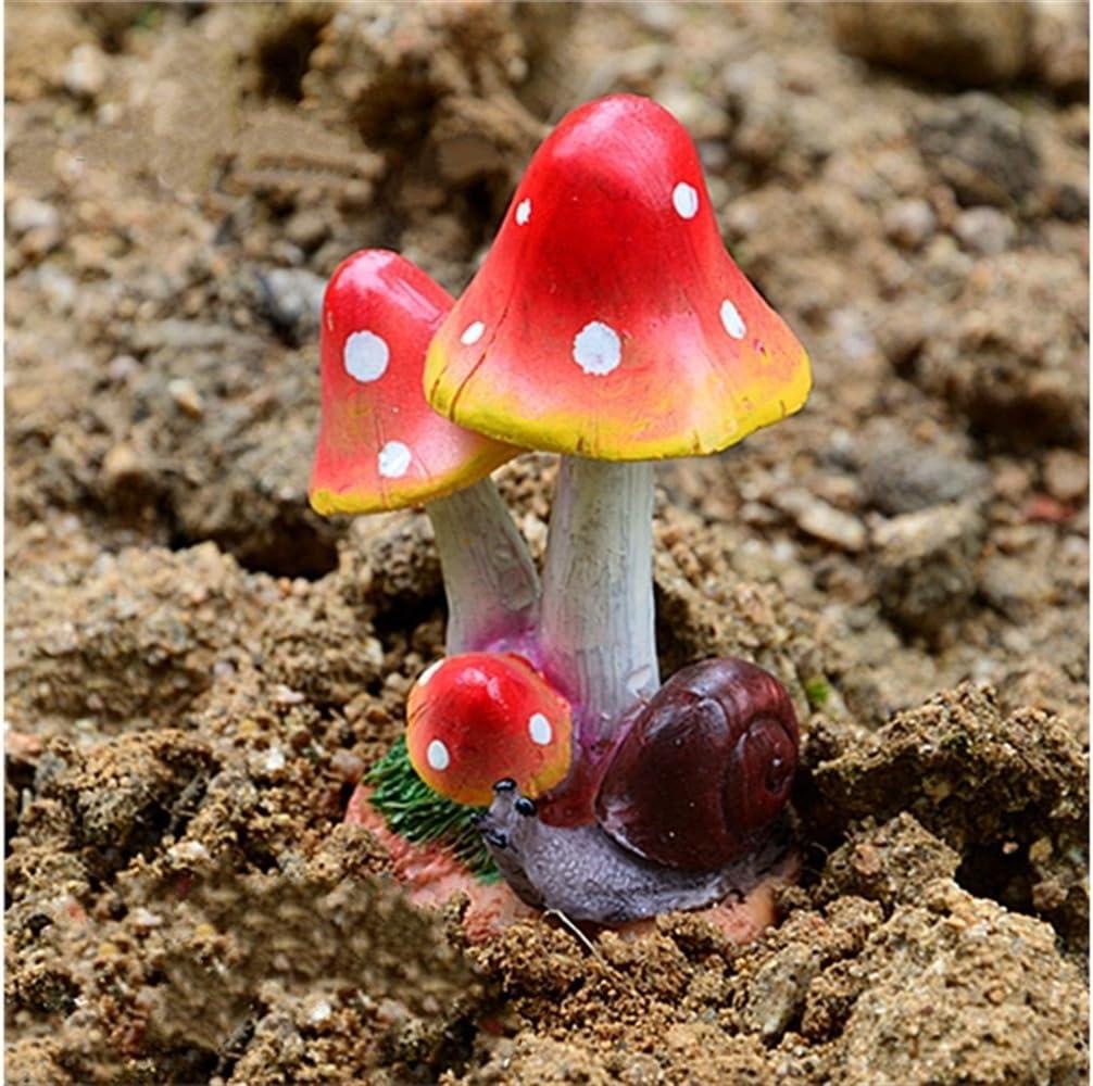 HGJNGHBNG Jardín en Miniatura Setas de Resina en Miniatura con decoración de jardín de Animales Decoración de Paisaje de Micro Artesanía (Rojo): Amazon.es: Hogar