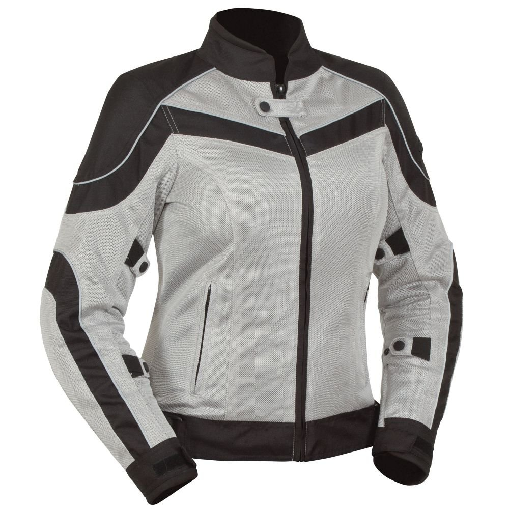 Black//Grey BILT Womens Techno Mesh Motorcycle Jacket SM