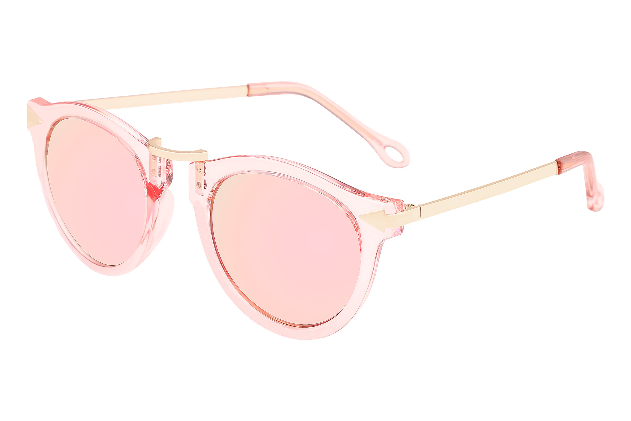 FEISEDY Vintage Arrow Women Sunglasses Pink Metal Frame Polycarbonate Lenses B1101 B2427
