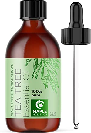 Pure Tea Tree Oil 4oz - Tea Tree Essential Oil for Hair Skin and Nails - Australian Tea Tree Oil 100 Percent Pure Essential Oils for Skin Use Scalp Cleanser Nail Care and Aromatherapy Diffuser Oils