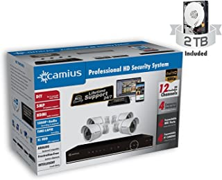 Amazon camius do it yourself cctv kits camius 12k4b2atch2 hd home security camera system with hybrid 8ch dvr onvif ip nvr with solutioingenieria Images
