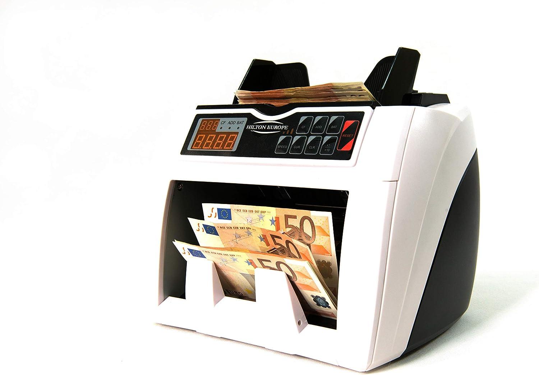 HILTON EUROPE HE-4000 - Contador y Detector de billetes - EURO, GBP, USD, CHF