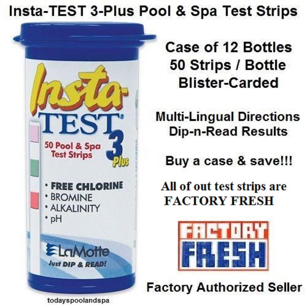 Lamotte Insta Test 3 Test Strips CASE OF 12 by LaMotte