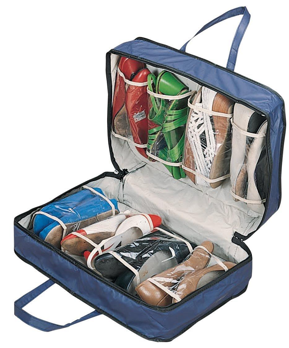 WalterDrake Blue Shoe Storage Travel Bag, 19.5'' x 13.25'' x 5.5'' by WalterDrake