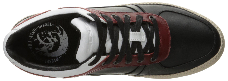 Diesel Men's V S-Spaark Low Fashion Sneaker, Black/White/Biking Red, 10.5 M US by Diesel (Image #8)