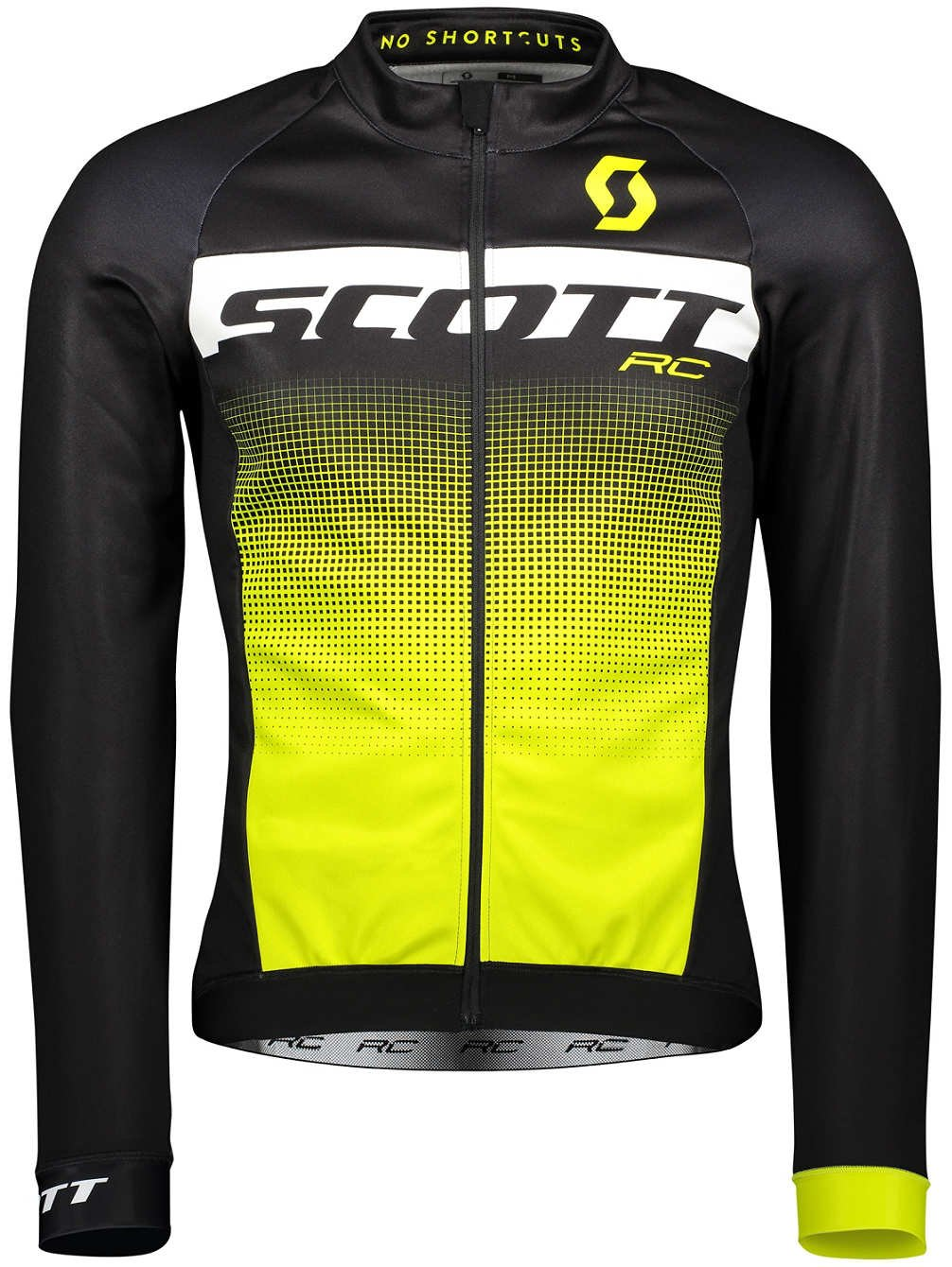 Scott RC AS WP Winter Fahrrad Trikot schwarz/gelb 2018