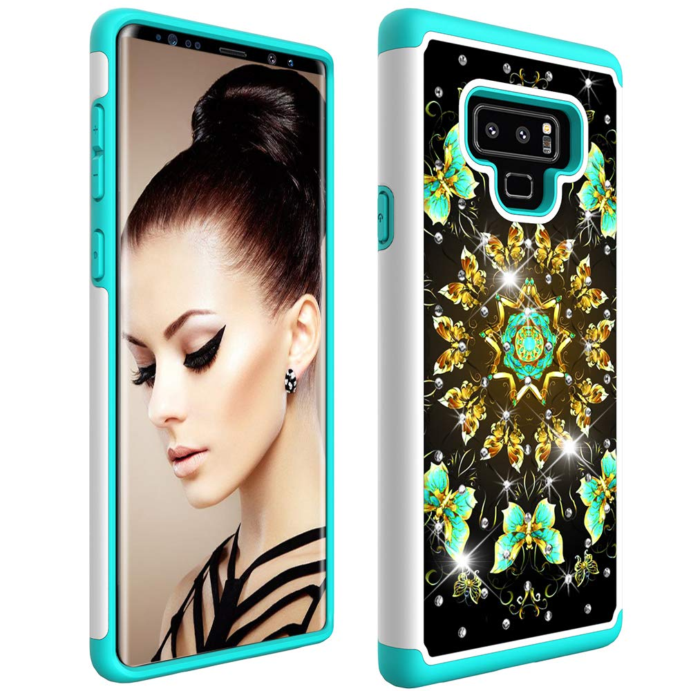 Flip Mirror: Silver Samsung Note 9 Case 2018 COTDINFORCA Mirror Design Clear View Flip Bookstyle Luxury Protecter Shell with Kickstand Case Cover for Samsung Galaxy Note 9