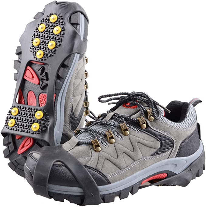Ice Snow Grips Over Shoe//Boot Traction Cleat Spikes Anti Slip Footwear 0 Size:M
