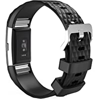 """MoKo Fitbit Charge 2 Band, Soft Silicone Adjustable Replacement Sport Strap Band for 2016 Fitbit Charge 2 HR Heart Rate + Fitness Wristband, Wrist Length 5.70""""-8.26"""" (145mm-210mm)."""