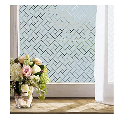 privacy window screen mesh indoor window privacy window film 177x787by inches peel and stick reusable decorative non amazoncom