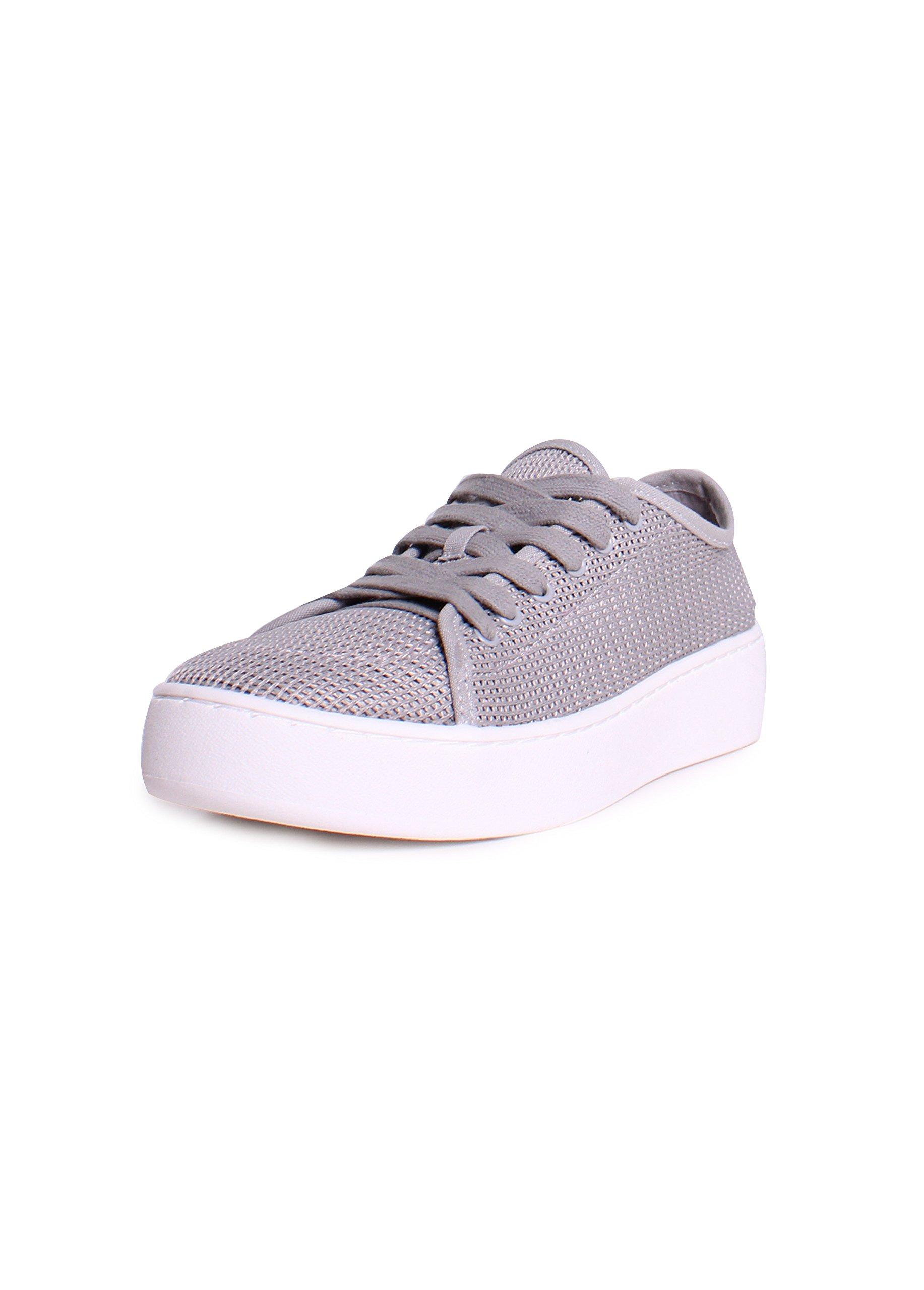 Donald J Pliner Women's Cecile Sneaker, Silver, 9.5 Medium US