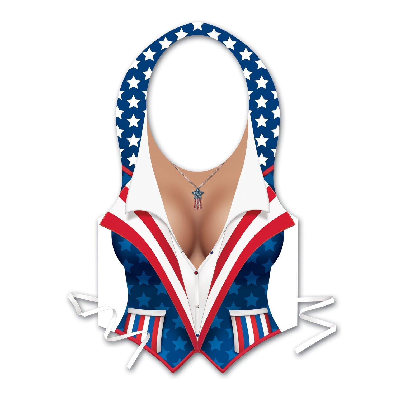 Beistle 66252 48-Pack Plastic Female Patriotic Vests by Beistle