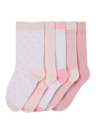 9d8e970fe910c Vertbaudet Lot de 5 paires de chaussettes fille Lot rose clair rayé 19/22