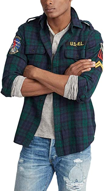 Camisa Ralph Lauren Military GI Cuadros Verde Hombre Small Verde: Amazon.es: Ropa y accesorios