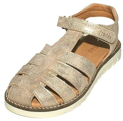 Froddo FlechtsandaleRiemchen Sandale in Gold Glitzer mit