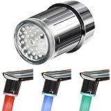 TekSky - Grifo de 3 colores con sensor de temperatura LED para agua – Elegante detector térmico degradado que cambia de…