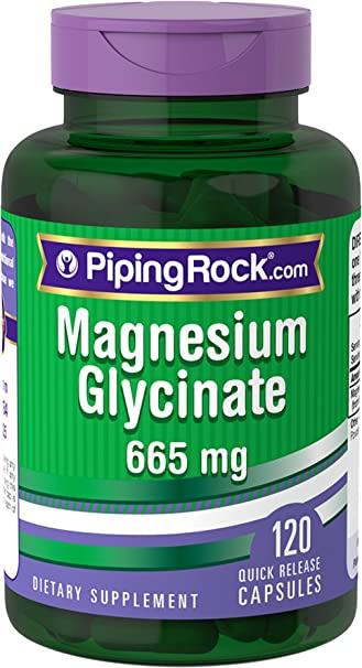 Magnesium Glycinate 665 mg 120 Capsules