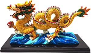 better us 11 Inch Large Chinese Feng Shui Dragon Statue Feng Shui Decor Home Office Decoration Tabletop Decor Ornaments Good Lucky Gifts