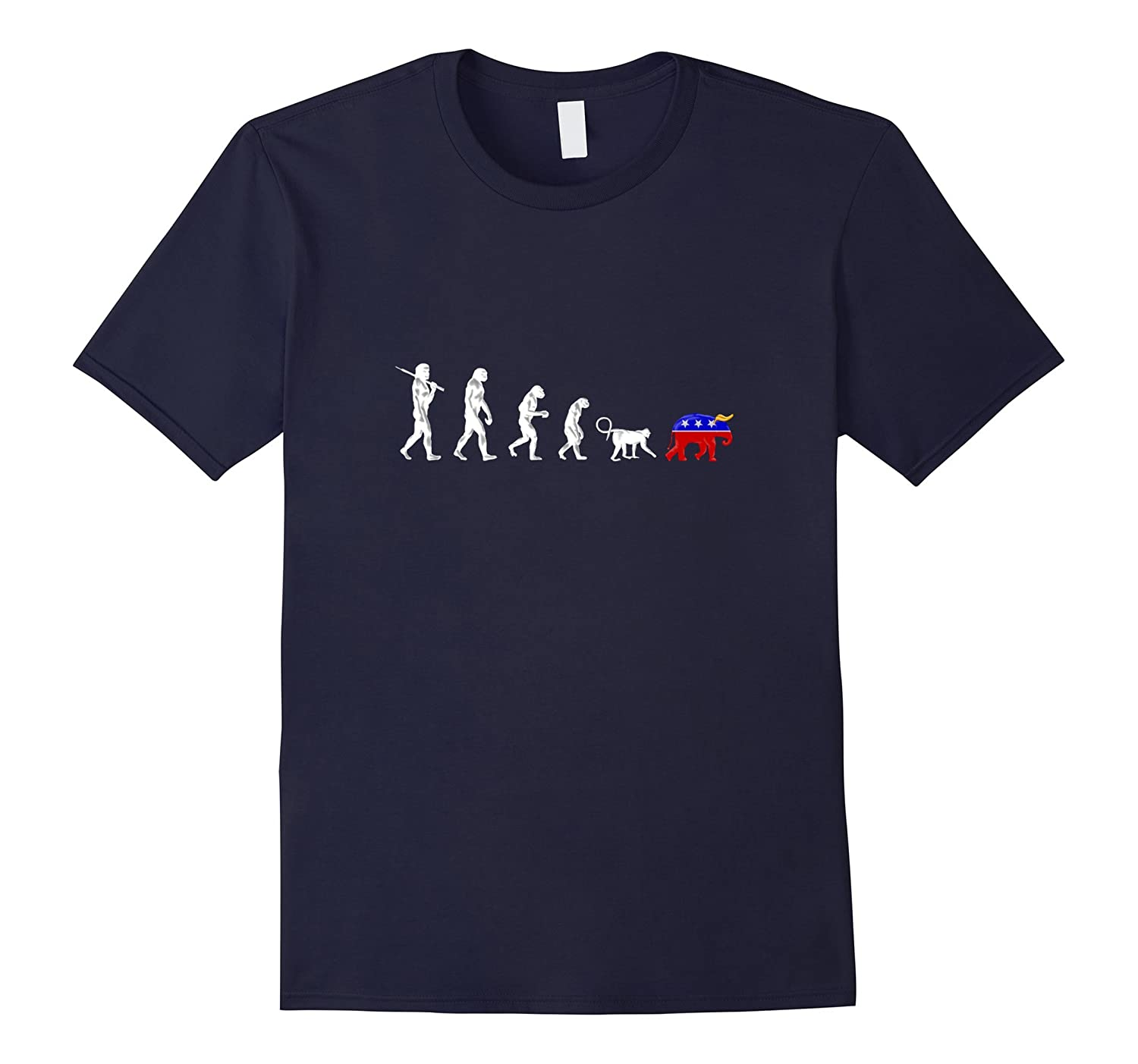 Funny Pro-Democrat Anti-Republican Devolution T-Shirt-CD