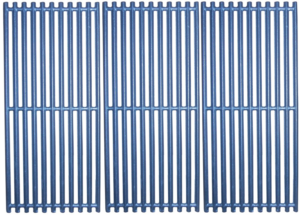 Music City Metals 61123 Matte Cast Iron Cooking Grid Replacement for Gas Grill Models Charbroil 463241313 and Charbroil 466241313, Set of 3