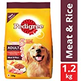 Pedigree Adult Dry Dog Food, Meat and Rice, 3 kg