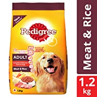 Pedigree Dry Dog Food, Meat & Rice for Adult Dogs – 3 kg