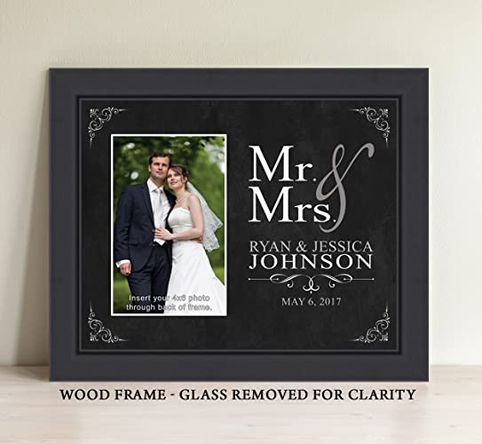 Amazon.com: Personalized Mr and Mrs Picture Frame, Wedding Gift ...