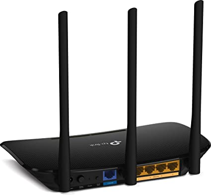 f/ür Anschluss an Kabel-// DSL-// Glasfaser-Modem, 450 Mbit//s 2,4 GHz TP-Link TL-WR940N N450 WLAN Router , WPS, Print// Media// FTP Server schwarz