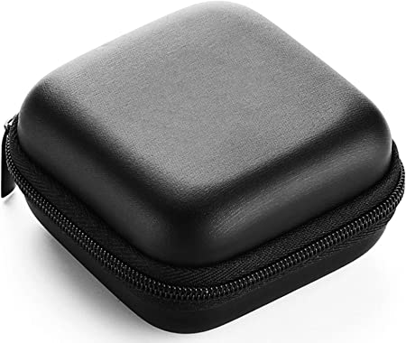 Lucklystar Funda Auriculares Mini Bolsa Almacenamiento Rígida, Coleccion Cremallera Zipper Cubierta Bag Caja Estuche para Apple AirPods,iPod Shuffle,Memoria,Filtro Lente: Amazon.es: Hogar