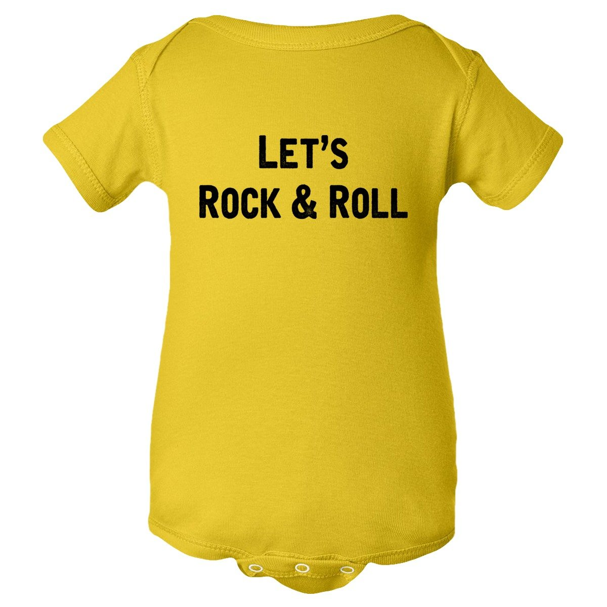 Baby Creeper Lets Rock and Roll Music Distressed HQ 1-Pc Jumper