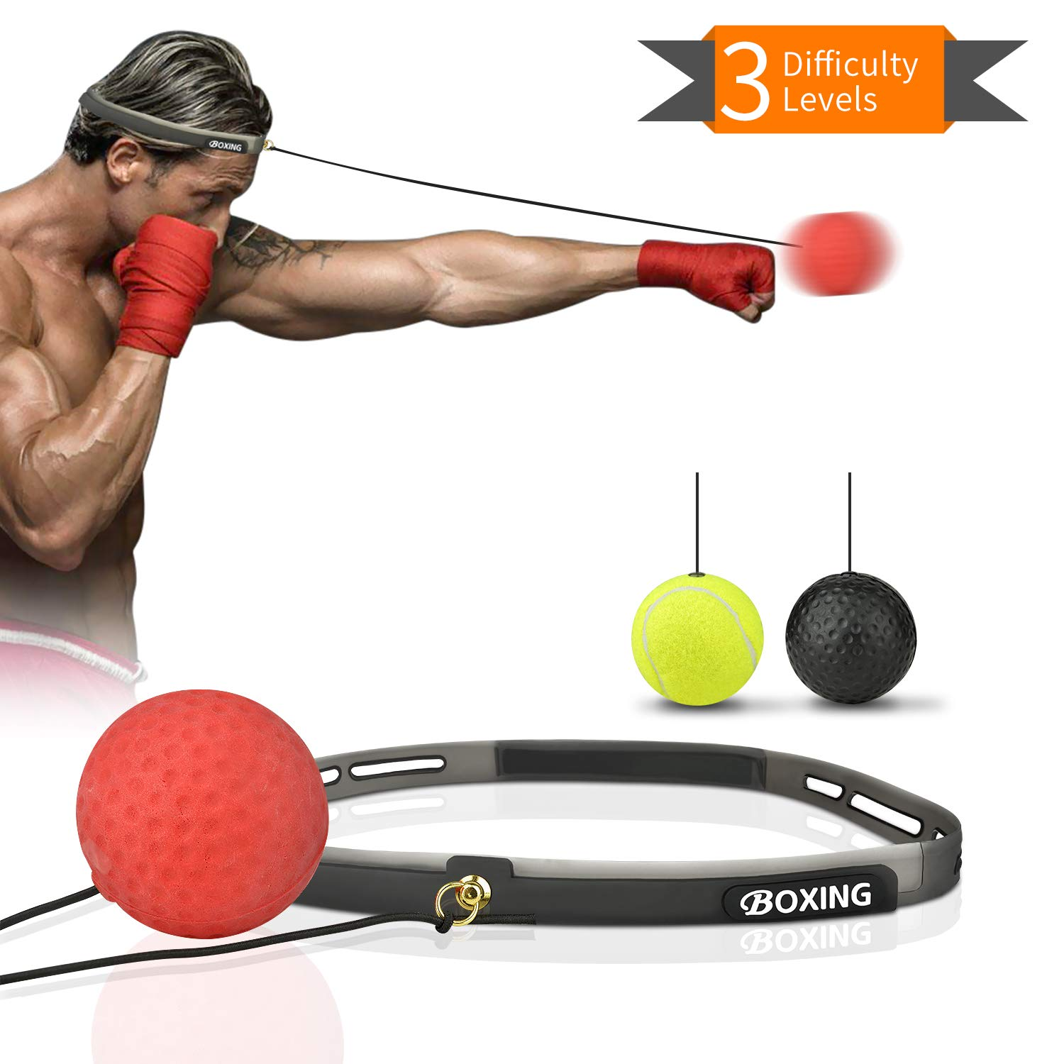 Boxing Reflex Ball Set Great For Beginner to Advanced!