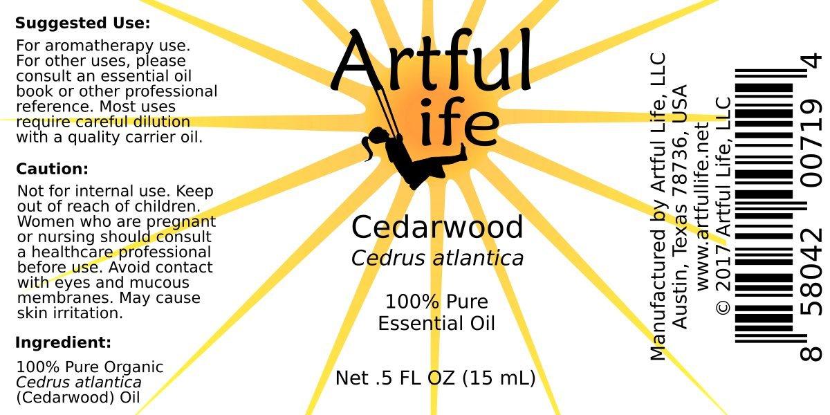 Amazon.com: Artful Life Organic Cedarwood Atlas Essential Oil ...