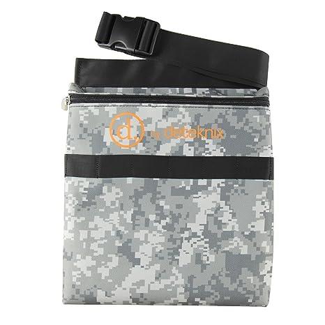 Quest Digital camuflaje detector de metales encuentra bolso de cintura con cinturón encaja 48 ...