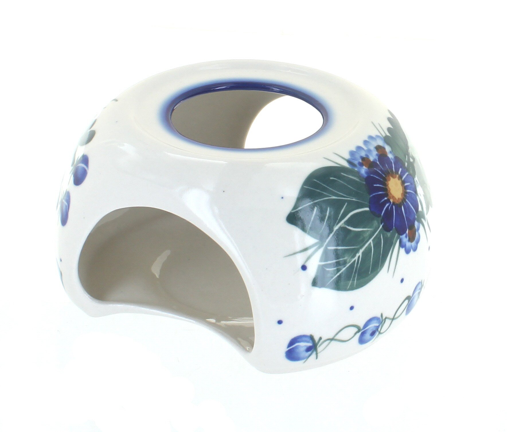 Blue Rose Polish Pottery Forget Me Not Teapot Warmer