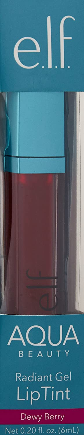 e.l.f. Aqua Beauty Radiant Gel Lip Stain - Dewy Berry: Amazon.es: Belleza