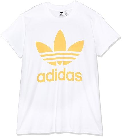 adidas Big Trefoil tee Camiseta, Mujer, Blanco (ororea), 28