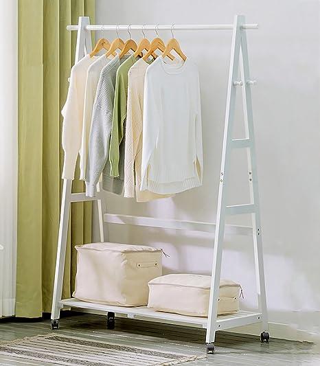 Amazon.com: moj-yj soporte de piso salón o recámara perchero ...
