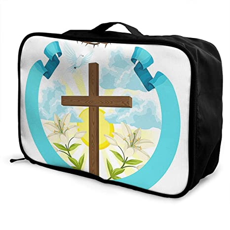 0be011823563 Amazon.com: Charm Trend Easter Cross Lily Lightweight Waterproof ...