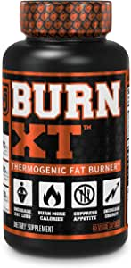 Burn-XT Thermogenic Fat Burner - Weight Loss Supplement, Appetite Suppressant, & Energy Booster - Premium Fat Burning Acetyl L-Carnitine, Green Tea Extract, & More - 60 Natural Veggie Diet Pills