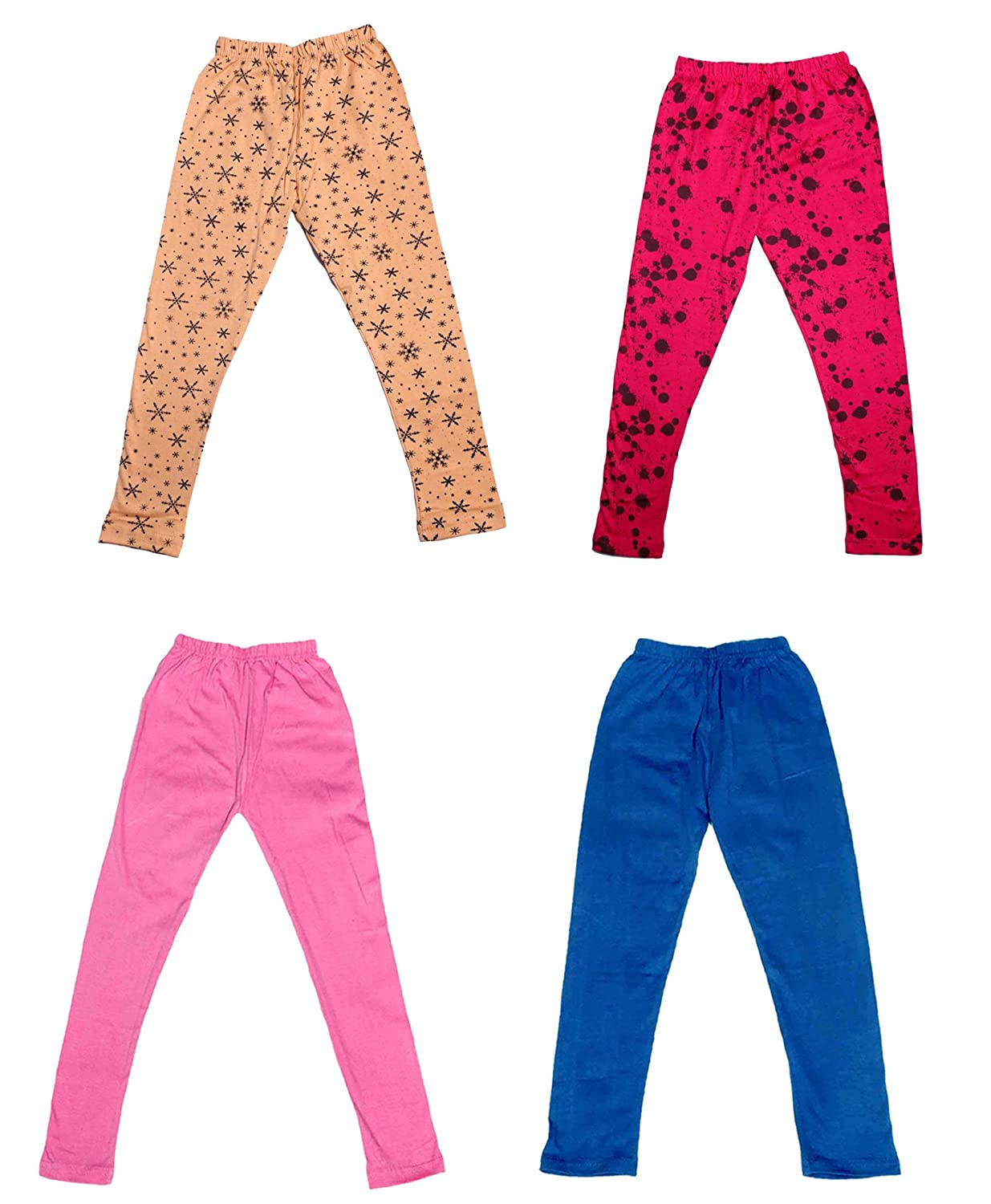 /_Multicolor/_Size-4-5 Years/_71408091920-IW-P4-26 Indistar Girls 2 Cotton Solid Legging Pants Pack Of 4 and 2 Cotton Printed Legging Pants