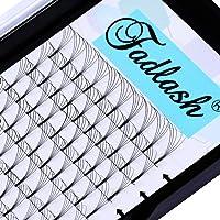 Premade Volume Eyelash Extensions FADLASH 5D Lash Extensions Long Stem C/D Curl Volume Lash Extensions 9-16mm Length Supply 0.10mm Premade Lash Fans (5D-0.10-D, 14mm)