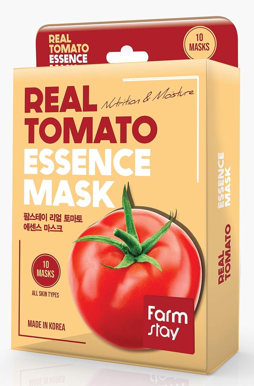 [Farmstay] Real Essence Mask(10 Sheets) - TOMATO | Korean Skin Care Mask Sheet