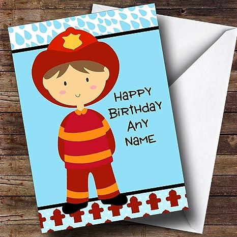 Biglietto Di Auguri Per Compleanno Figlio Motivo Pompiere Per