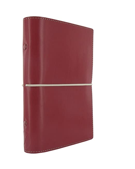 Filofax 19-027810 - Carpeta (Conventional file folder, Cuero, Rojo, Personal, 133 mm, 35 mm)