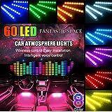 4x8 Farben LED Neon Undercar Glow Licht 8 Farben 12V RGB Auto Chassis Licht Underglow Atmosph/äre Dekorative Bar Lights Kit mit Sound Aktive und drahtlose Fernbedienung f/ür Auto Bumper Car Bottom
