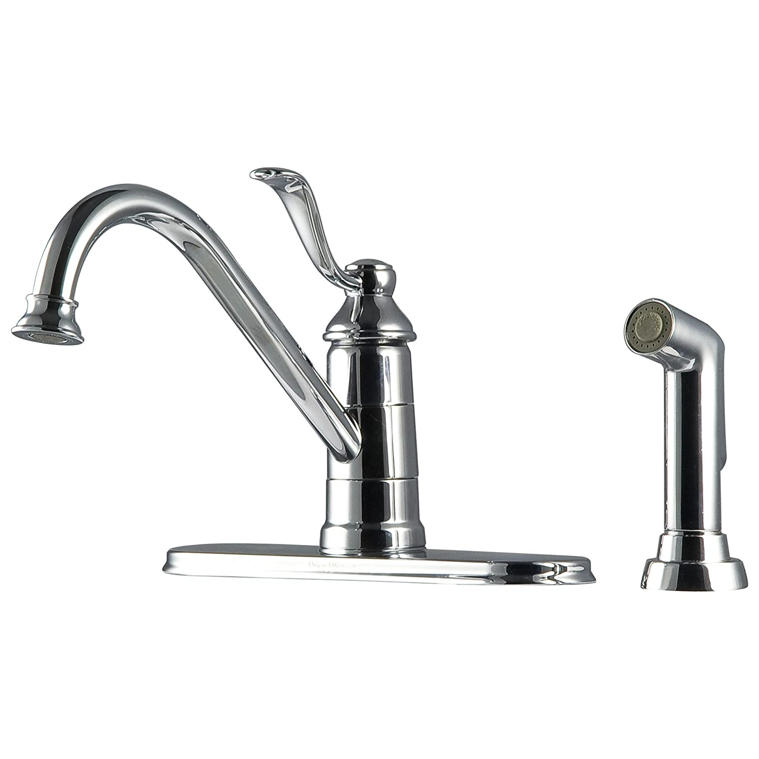 Pfister LG344PC0 Portland 1-Handle Kitchen Faucet with Side Spray in ...
