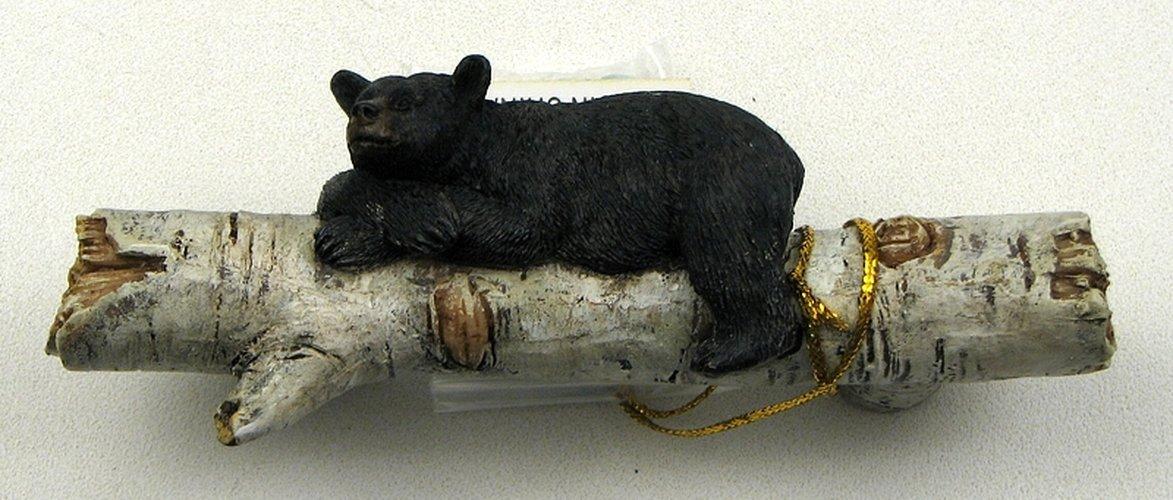 Set of 3 Adorable Bear on a Birch Log Drawer Handles