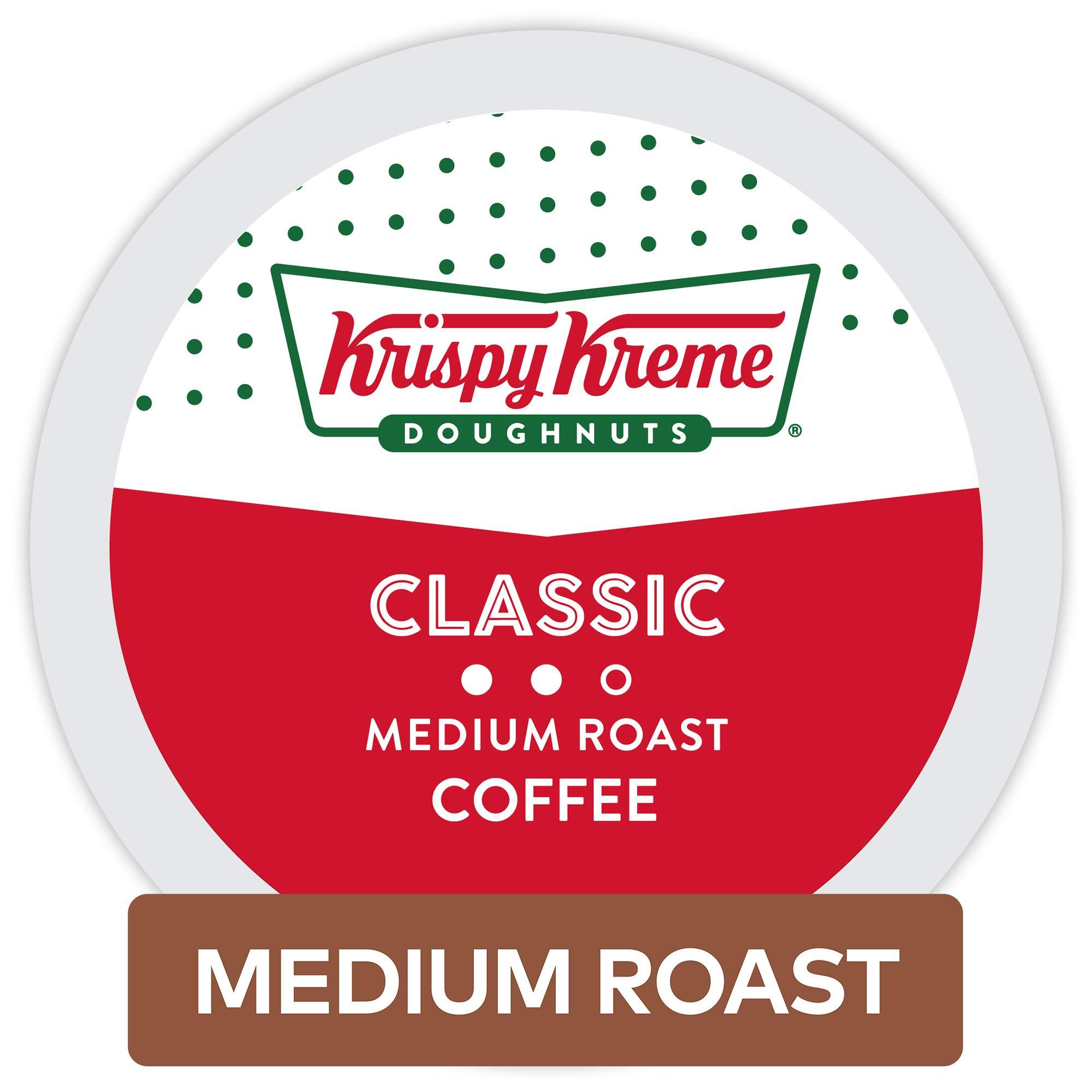 Krispy Kreme Doughnuts Classic, Single Serve Coffee K Cup Pods for Keurig Brewers, Medium Roast, 32Count by Krispy Kreme