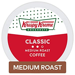 Krispy Kreme Doughnuts Classic, Single Serve Coffee K Cup Pods for Keurig Brewers, Medium Roast, 32Count